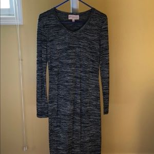 Philosophy Gray and Black Sweater dress